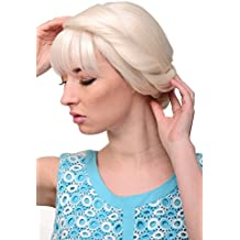 WIG ME UP ® - GFW2030A-60 Peluca calidad mujer Cosplay fabuloso tradicional trenza trenzada larga rubio platino blanco