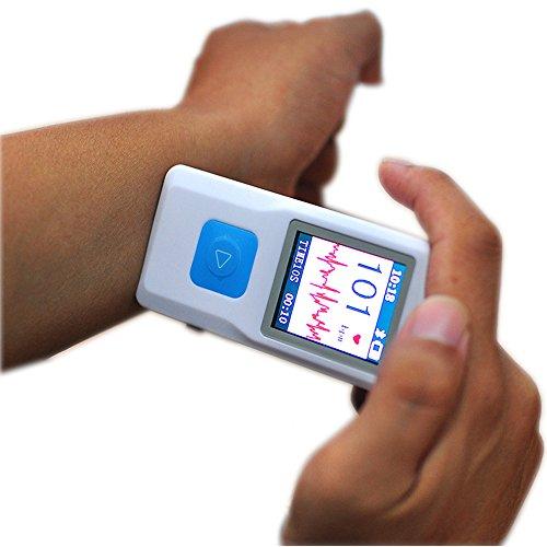 Risingmed PM10 Portable ECG EKG Machine Heart Beat Monitor with USB, Bluetooth,LCD Display Househeld