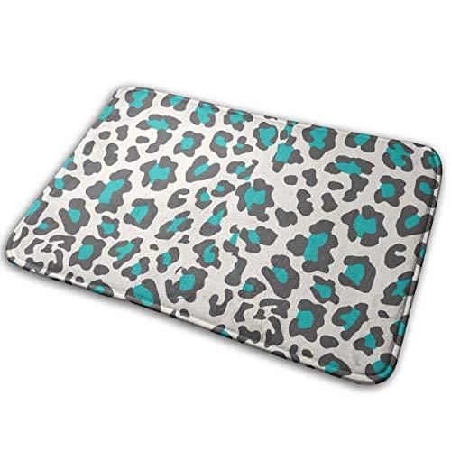 huibe Gepard Druck Blau Memory Foam Bad Teppiche Küche Matte Rutschfeste Unterseite Fußmatte Teppich Teppich, Home Decor Duschmatte Badewanne Wolldecke-40X60 cm