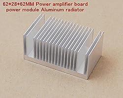 Generic Free Ship 5PCS Circuit board evacuated tube aluminum heat sink 62*28*62MM Power amplifier board Aluminum radiator