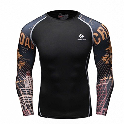 Men's Long Sleeves Base Layer Weight Lifting Tee Shirts style 10