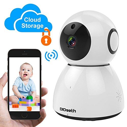 Persönliche Kamera überwachung (DIDseth IP Kamera | Wireless Überwachungskamera WLAN Kamera, Cloud Speicher, 1080P IR Nachtsicht Mobile APP Kamera-Sicherheitssystem Pan/Tilt WiFi 2-Wege Baby Monitor mit Bewegungsmelder)