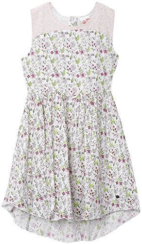 FS Mini Klub Girls' Regular Fit Dress (88KGODR0613 PINK PRINT 1_4 - 5 Years, Pink, 4 - 5 Years)  available at amazon for Rs.269