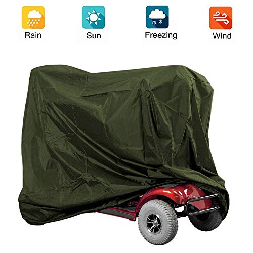 Copertura del motorino di mobilità, copertura protettiva per lo stoccaggio di sedie a rotelle e scooter, protezione impermeabile per scooter disabili, copertura antipioggia esterna,190*71*117CM