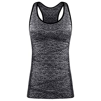 Disbest Activewear Vests Running Workout Clothes Yoga Sports Racerback Tank Tops for Women