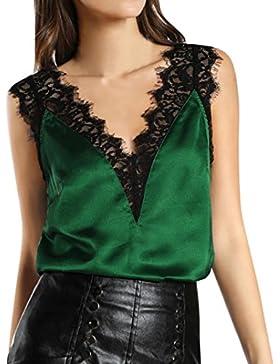 K-youth® Camiseta Para Mujer, Mujer Camisa Casual Blusa Suelto Tops Barata Atractivas Blusas Mujer Cuello V Elegante...
