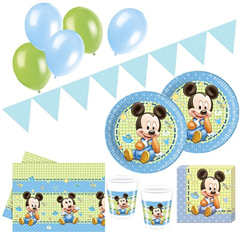 74 Teile Disney Baby Micky Party Deko Set 16 Personen
