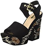 Guess Mujer Caralin Zapatos de tacón Negro Size: 37 EU