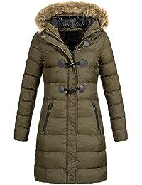 AZ-Fashion Damen Steppmantel Winter Mantel Parka Jacke warm S-XXL AZ29 4- aef71acd27