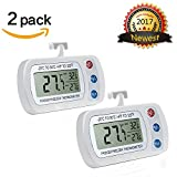 "§From AIGUMI refrigerator freezer thermometer, 1.8 ""X0.8"" large screen display, 0.5 ""x0.23"" digital display, there are three buttons in front.  §Power, degrees Celsius / Fahrenheit and clear the maximum / minimum reading button to make it cle..."