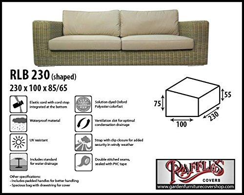 RLB230shaped Wetterschutz für Rattan Lounge Bank, Gartensofa oder Lounge Sofa, 3 Sitzer, passt am...