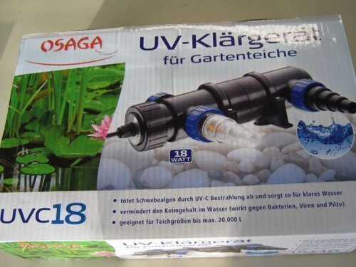 OSAGA UV-Klärgerät -UV C 18- für Gartenteiche