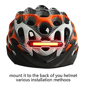 Fahrrad Rücklicht, ThorFire Ultra Hell LED Fahrradlicht Fahrradbeleuchtung Fahrradlampe USB Aufladbar Fahrradrücklicht Fahrradhelme Lichter mit 5 Licht Modi Rot Weiß by Sumbay