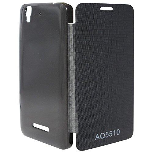 EXXONINC Premium Flip Cover Case for Micromax Yureka Yu YUREKA AO5510 Mobile (Black)