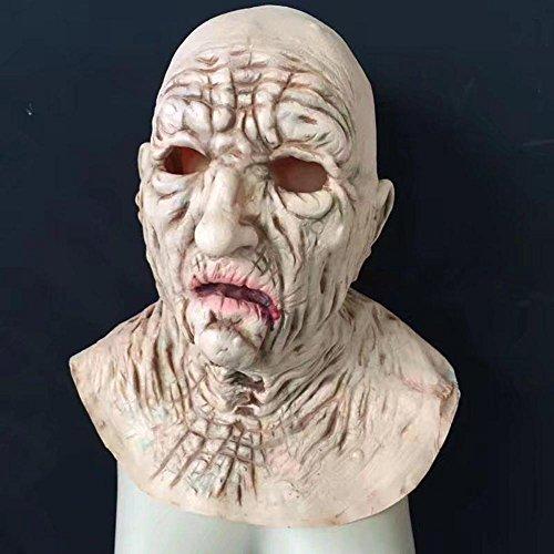 Maske Alien geformte Kopfbedeckung Nahrungsmittelgrad Latex Simulations Farben Farbe Terror Scare Stützen (Herr Nudel-halloween-kostüm)