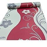 Exklusiv Arthouse Rhythmus Blumen Muster Blumenmotiv Metallische Tapeten - Rot 614407