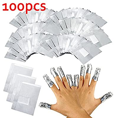UV Gel Soak Off Nail Polish Remover Foil Wraps Aluminium Manicure Remover Tool Kits 100PCS/Pack