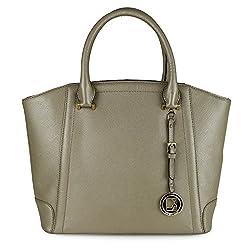 Da Milano Womens Handbag( Golden,LB-3898LGOLDSAFFIANO)