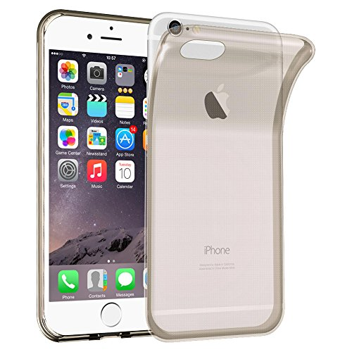 Cadorabo - TPU Ultra Slim Silikon Hülle für >          Apple iPhone 6 PLUS / 6S PLUS          < - Case Cover Schutz-Hülle Bumper in TRANSPARENT-BLAU TRANSPARENT-SCHWARZ