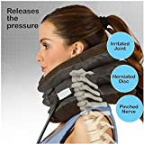 SHOPPO SHOP Health care Cervical Neck Traction Air Bag With 3 Layer Inflatable