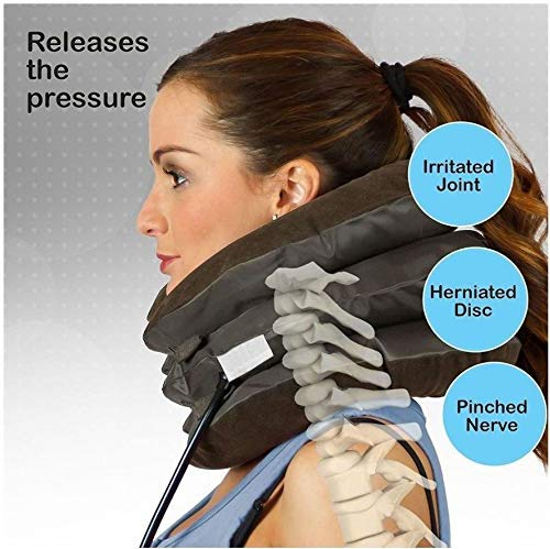 SHOPPO SHOP Health care Cervical Neck Traction Air Bag With 3 Layer Inflatable Pillow For Neck Support And Relaxation