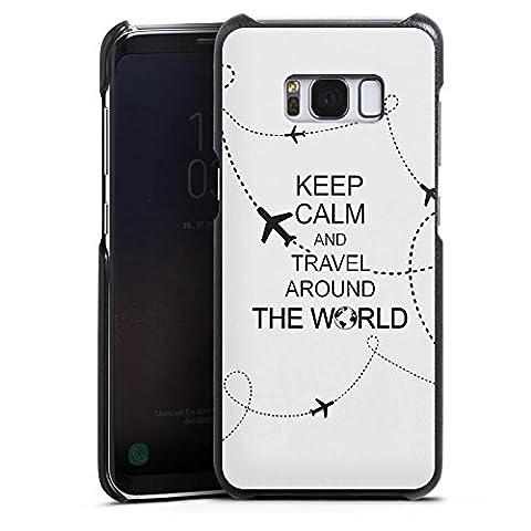 Samsung Galaxy S8 Lederhülle Leder Case Leder Handyhülle Reisen Travel