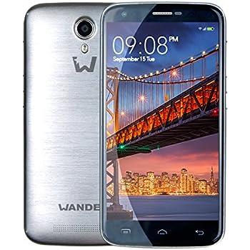 Wander USA Smartphone W6 Plus Dual Sim Silver - Mobile Phone Smart Phone Cell Phones. Garanzia Italiana 2 anni. 64bit quad core, 1.0GHz CPU, 2GB RAM + 16GB ROM con display 5.5 pollici 1280*720 qHD, Android 5.1 OS. 8.0MP fotocamera frontale, 13.0MP fotocamera posteriore.