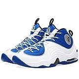 Nike Herren Air Penny II Basketballschuhe, Blau/Schwarz/Silber/Weiß (Cllg Blau/Schwarz-Slvr Mtllc-Weiß), 40 EU