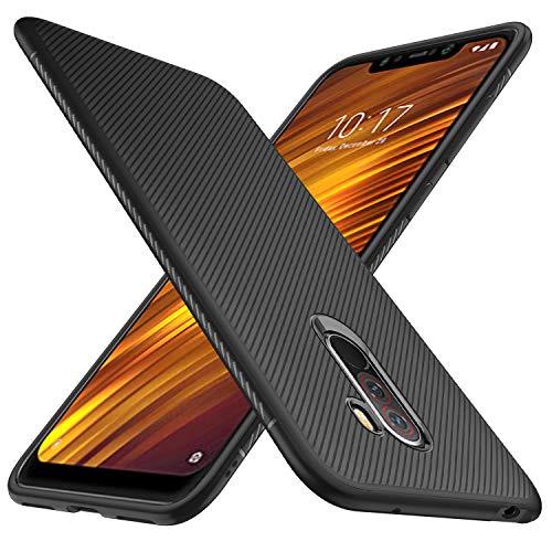 GeeMai Xiaomi Pocophone F1 Hülle, [Schwarz Soft Hülle] Ultra Thin Silikon Schutzhülle Tasche Soft TPU Hüllen Handyhülle für Xiaomi Pocophone F1 Smartphone