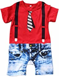 FEESHOW Pelele para bebé niño trajes para niños Body para Bebé-Niños Pagliaccetto Pelele Ceremonia de la boda de la fiesta de cumpleaños