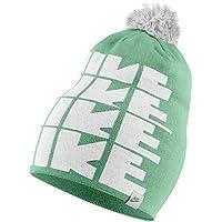 Nike Futura Pom Beanie Yth Gorro Con Borla, Niños, Verde Esmaltado / Blanco / Verde Esmaltado, One Size