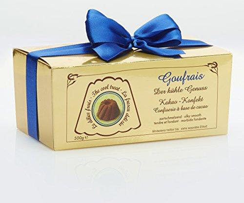 Goufrais Schokolade Kakao Konfekt feinste Gugelhupf Pralinen Schoko Geschenkset Trüffel Kakao-Konfekt Praline Box  500 g