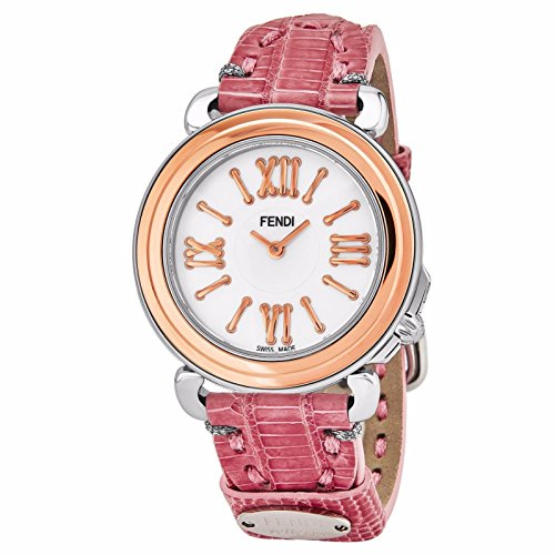 Fendi Women's Selleria 35mm Leather Band Swiss Quartz Watch F8012345H0.TS07