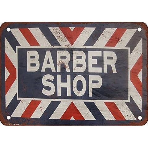 Barber Shop Stile vintage Riproduzione in metallo Tin Sign 30,5x 40,6cm