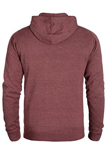 INDICODE Jamir Herren Kapuzenpullover Hoodie Sweatshirt mit Kapuze aus hochwertiger Baumwollmischung Bordeaux Mix (201)