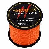 500m 547yds orange 6lbs-100lbs Hercules PE Dyneema Geflochtene Angelschnur Spectra 4Strähnen, Orange