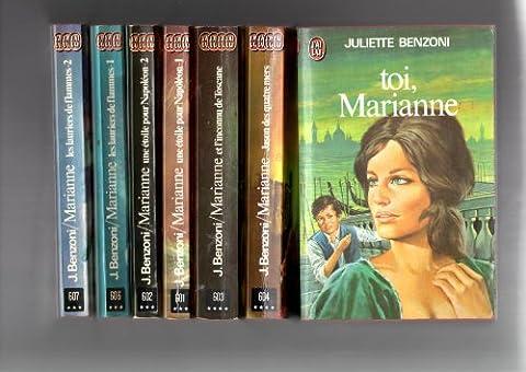 Marianne en 7 tomes.Toi,marianne/jason des quatre mers/et l