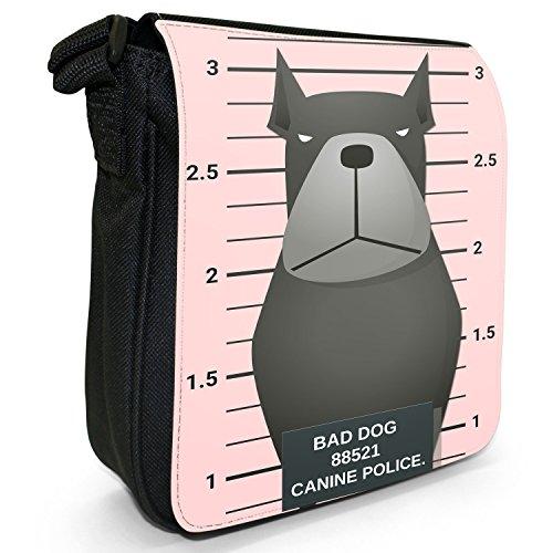 Fancy A Snuggle, Borsa a tracolla donna Gegenüberstellung Polizei schwarzer Rottweiler