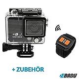 EBADU Action Cam 4K5: Wasserdichte Kamera mit 4K, Wifi, Fernbedienung, Slow Motion, Timelaps, interner Lautsprecher, Super-Weitwinkel-Objektiv uvm.