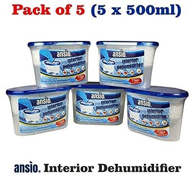 Interior Dehumidifier, 500 ml, Pack of 5