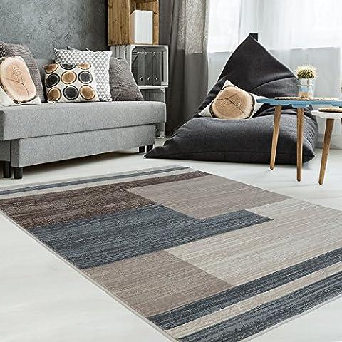 Teppich Modern Designer Wohnzimmer Schlafzimmer Läufer Inspiration Style Vintage Pastell-Pink Beige , Größe in cm:160 x 230