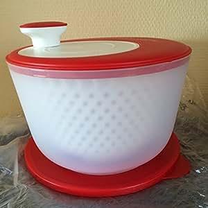 tupperware salatschleuder salat karussell 4 5l rot wei d128 salatkarussell k che. Black Bedroom Furniture Sets. Home Design Ideas