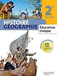 Histoire Géographie Education civique 2de Bac Pro - Livre élève manuel format compact - Ed. 2013