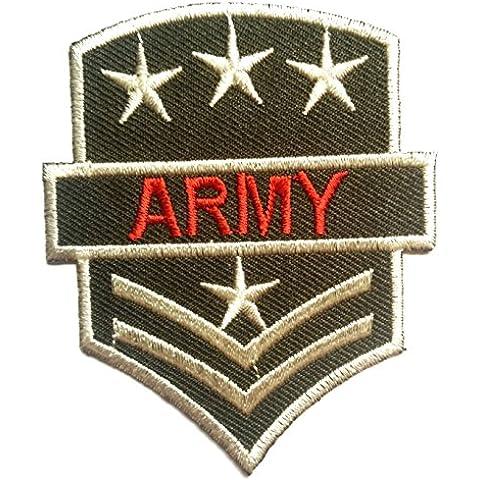 Parches - U.S. ARMY - verde - 6x7.5cm - termoadhesivos bordados aplique para ropa