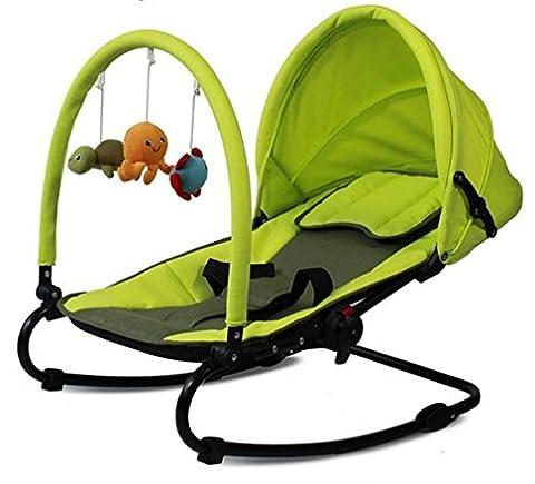 NWYJR Infant Rocker Newborn Convient Comfy Pliable rocker Apaisez bébé Portable , green