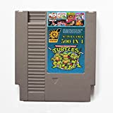500 in 1 NES Nintendo Game Cartridge mit Contra, Ninja Turtles, Super Mario, Double Dragon - Neueste Version, 72PIN 8BIT