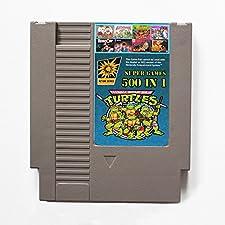 500 en 1 NES Cartucho de juego de Nintendo con Contra, Turtles Ninja, Super Mario, Double Dragon - Última versión, 72PIN 8BIT