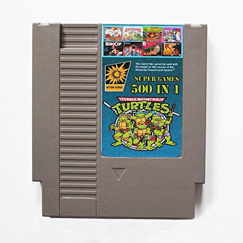 500 in 1 NES Nintendo Game Cartridge mit Contra, Ninja Turtles, Super Mario, Double Dragon - Neueste Version, 72PIN 8BIT