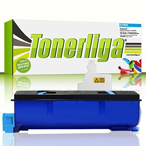 TK-570C Toner kompatibel f. Kyocera Ecosys P7035cdn / FS-C5400dn - Cyan - fabrikneue Ware - inkl. 1x Resttonerbehälter -