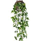 HUAESIN efeugirlande künstlich 3.4 FT efeu künstlich pothos Pflanze Künstliche Hängepflanzen Lang für Hochzeit Party Garten Festival Balkon Garten Dekor(Grüne)
